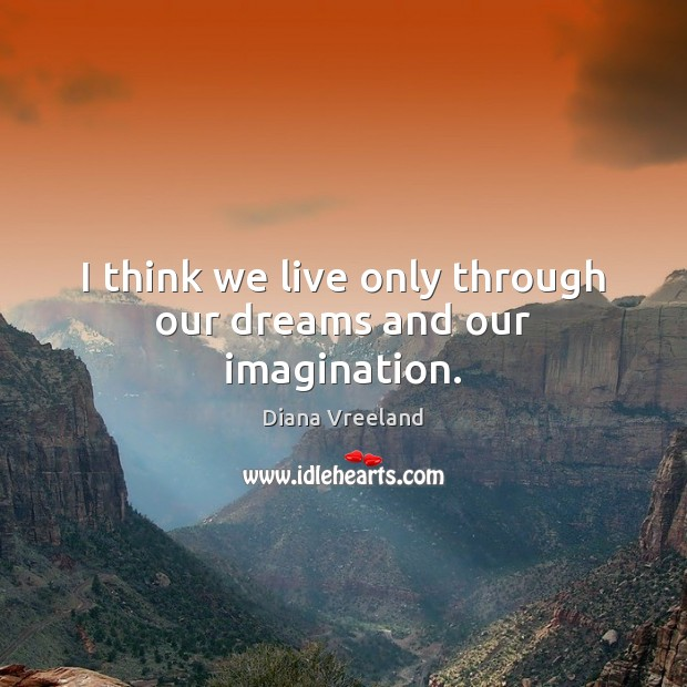I think we live only through our dreams and our imagination. Image