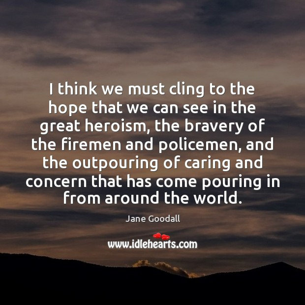 Image, I think we must cling to the hope that we can see