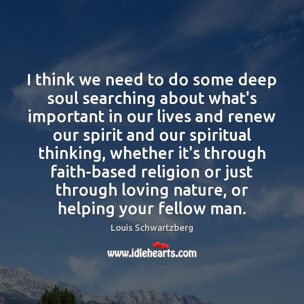 I think we need to do some deep soul searching about what's Image
