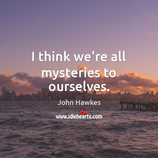 I think we're all mysteries to ourselves. John Hawkes Picture Quote