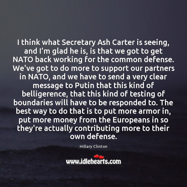I think what Secretary Ash Carter is seeing, and I'm glad he Image