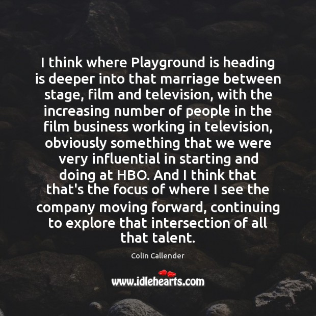 I think where Playground is heading is deeper into that marriage between Image