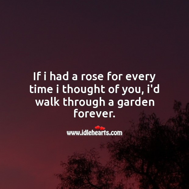 I thought of you Thought of You Quotes Image