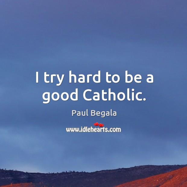 I try hard to be a good catholic. Image
