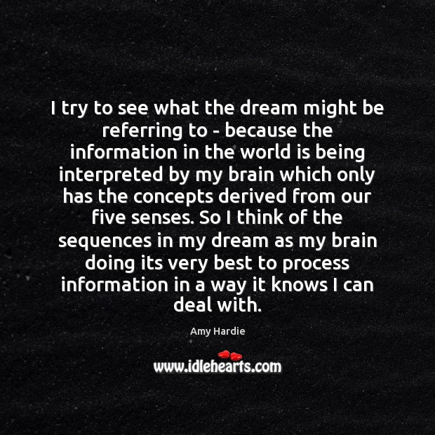 I try to see what the dream might be referring to – World Quotes Image