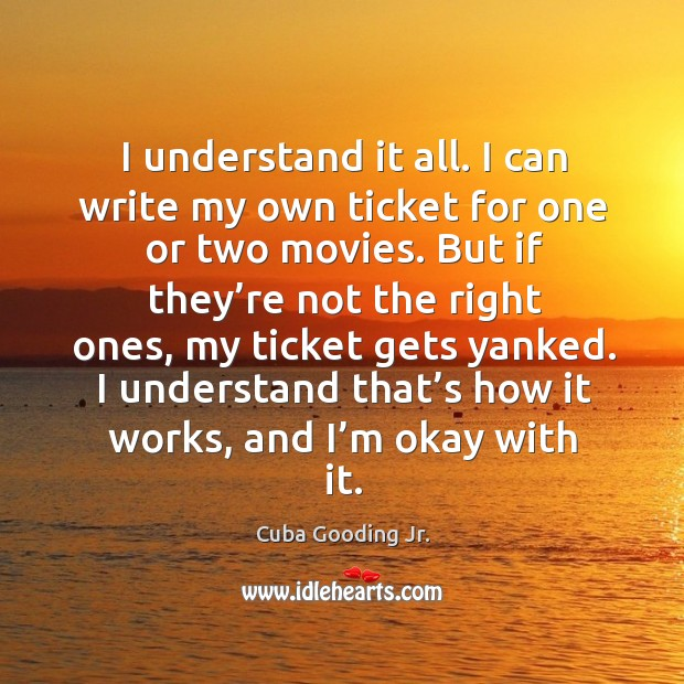 I understand it all. I can write my own ticket for one or two movies. Image