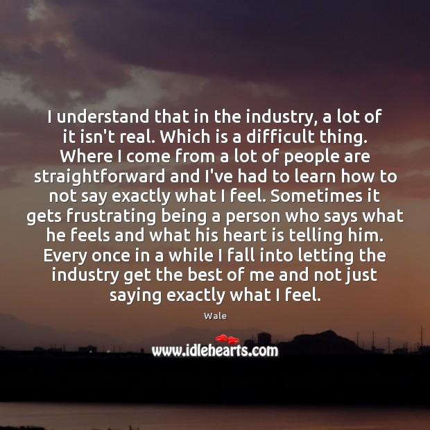 I understand that in the industry, a lot of it isn't real. Image