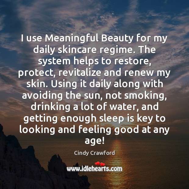 I use Meaningful Beauty for my daily skincare regime. The system helps Image