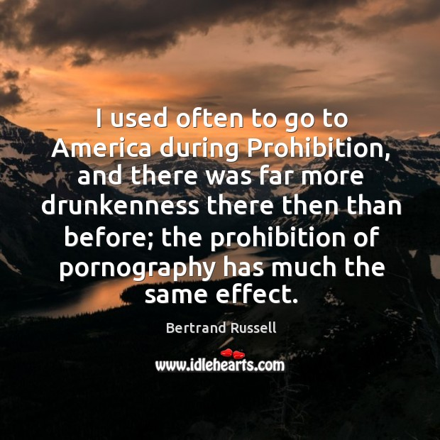 I used often to go to America during Prohibition, and there was Image
