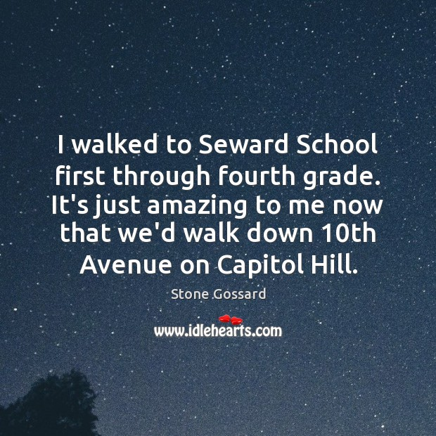 I walked to Seward School first through fourth grade. It's just amazing Image