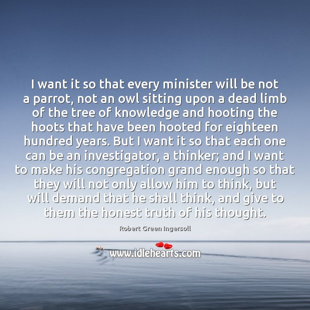 I want it so that every minister will be not a parrot, Image