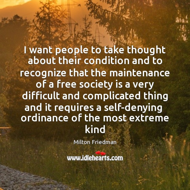 I want people to take thought about their condition and to recognize Image