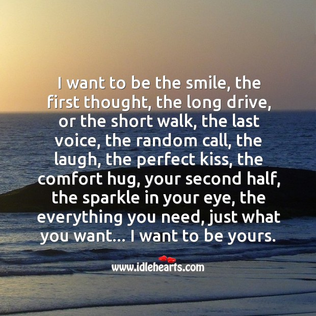 Image, I want to be yours