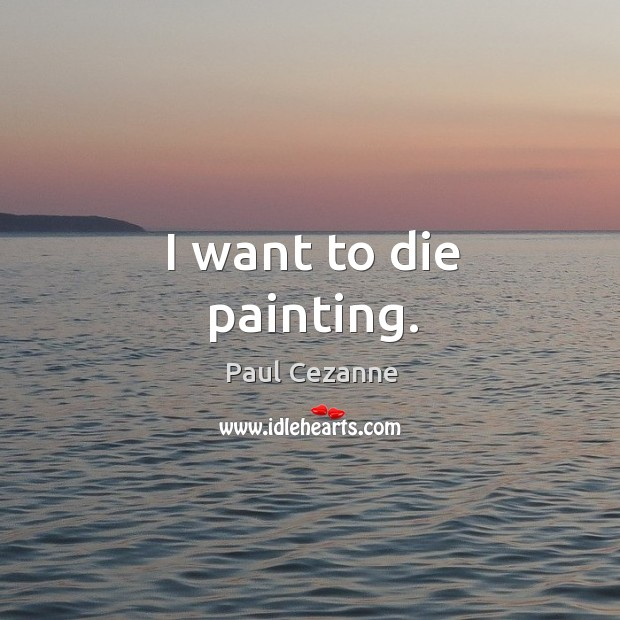 I want to die painting. Image