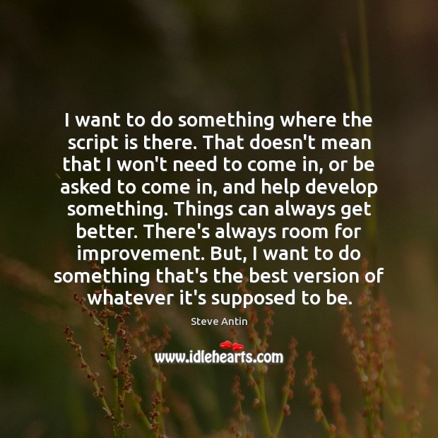 I want to do something where the script is there. That doesn't Image