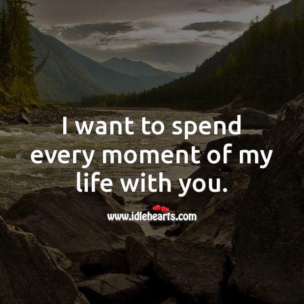 I want to spend every moment of my life with you. Love Quotes for Her Image