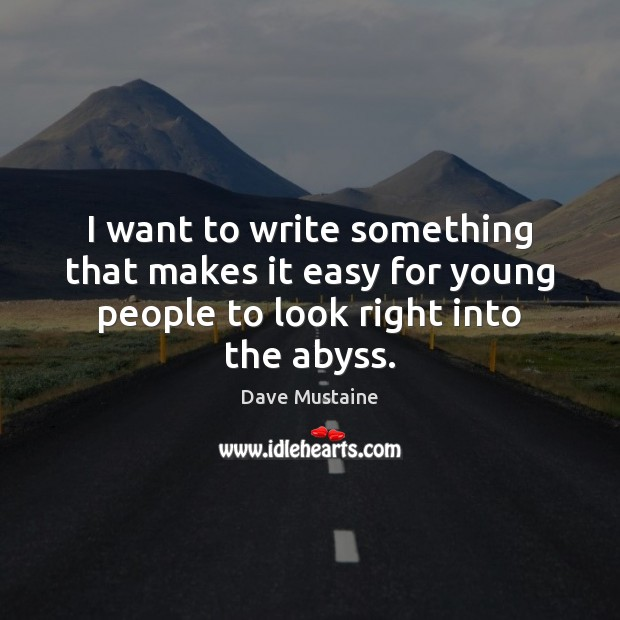 I want to write something that makes it easy for young people Image