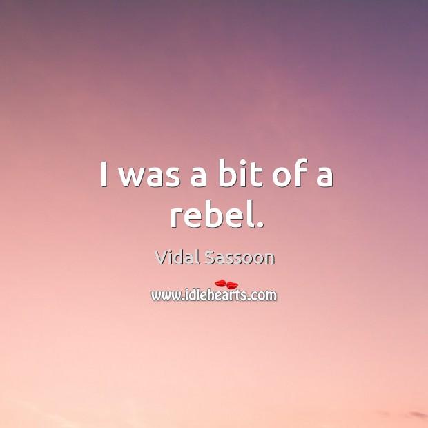 I was a bit of a rebel. Image