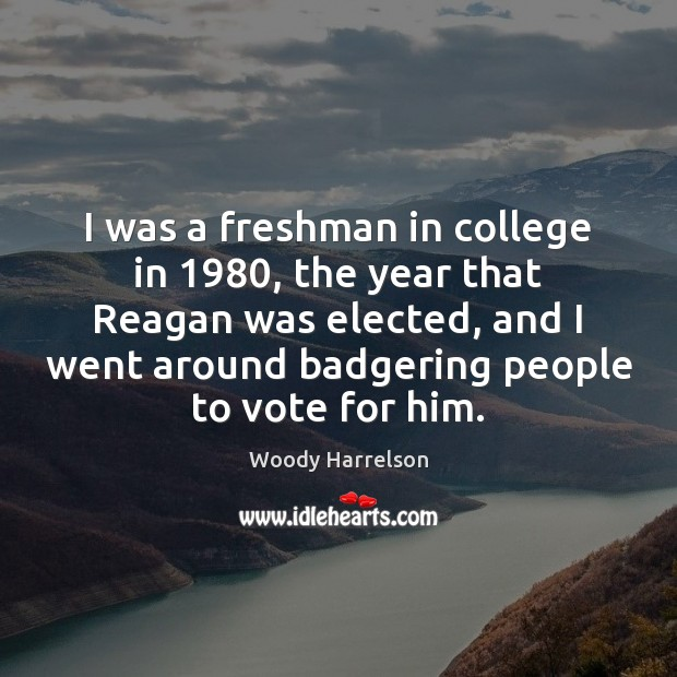 Image, I was a freshman in college in 1980, the year that Reagan was