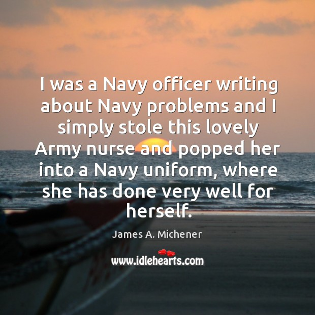 I was a navy officer writing about navy problems and I simply stole this lovely Image