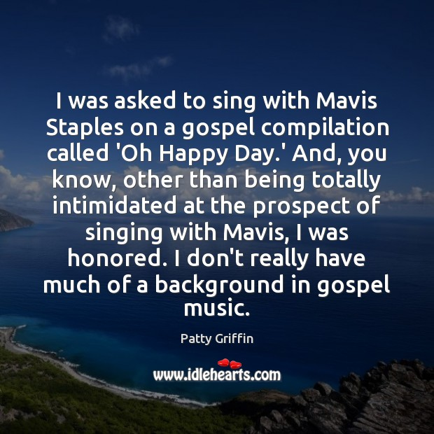 Picture Quote by Patty Griffin