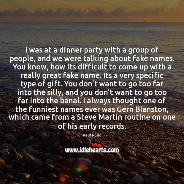 I was at a dinner party with a group of people, and Image