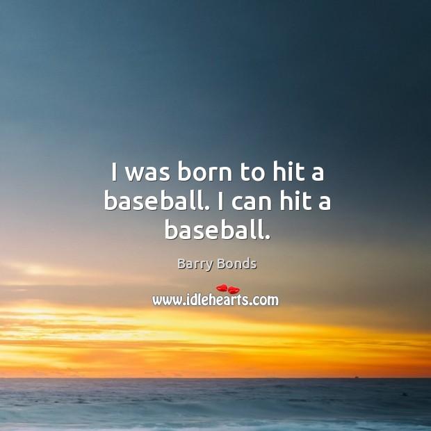I was born to hit a baseball. I can hit a baseball. Image