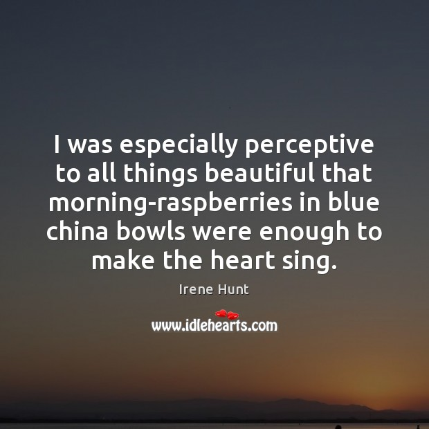 I was especially perceptive to all things beautiful that morning-raspberries in blue Image