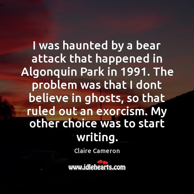 Image, I was haunted by a bear attack that happened in Algonquin Park
