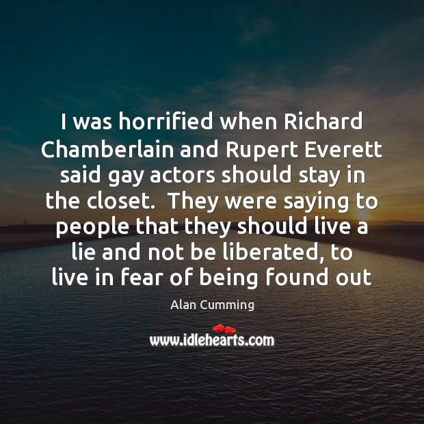 I was horrified when Richard Chamberlain and Rupert Everett said gay actors Image