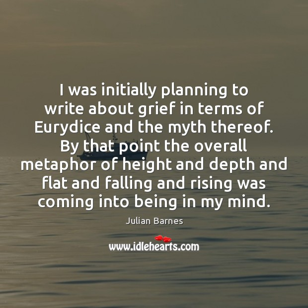 Image, I was initially planning to write about grief in terms of Eurydice