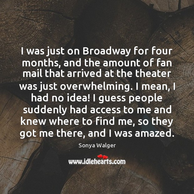 I was just on Broadway for four months, and the amount of Access Quotes Image