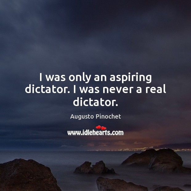 I was only an aspiring dictator. I was never a real dictator. Image