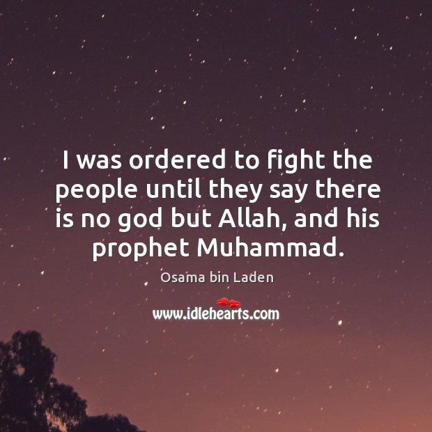 I was ordered to fight the people until they say there is Image