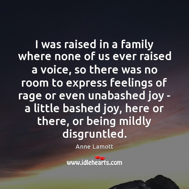 Image, I was raised in a family where none of us ever raised