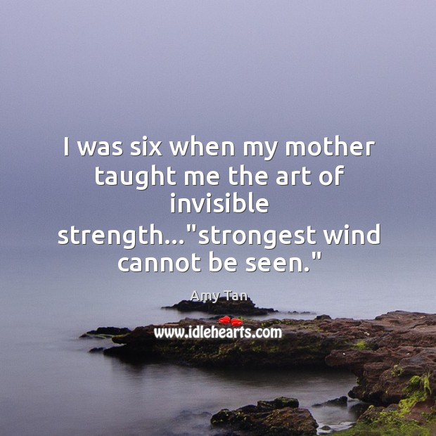 I was six when my mother taught me the art of invisible Image
