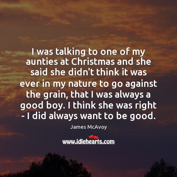 I was talking to one of my aunties at Christmas and she Image