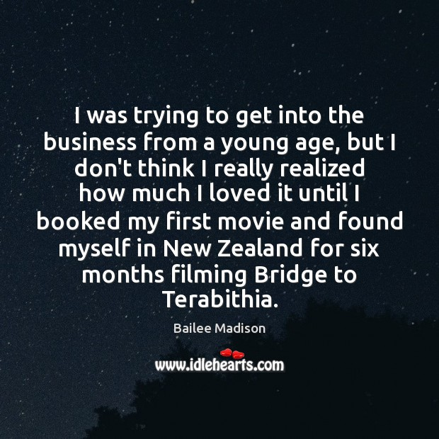 Image, I was trying to get into the business from a young age,
