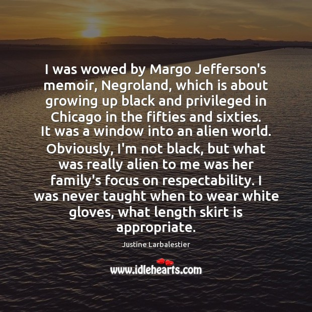 I was wowed by Margo Jefferson's memoir, Negroland, which is about growing Image