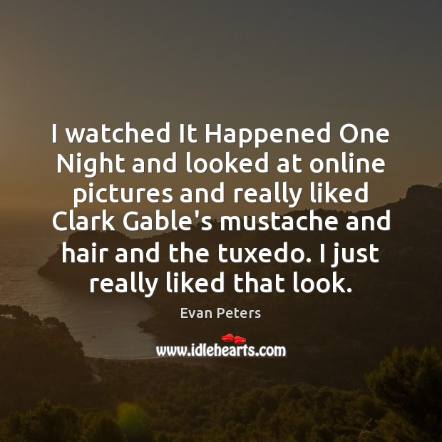 Image, I watched It Happened One Night and looked at online pictures and