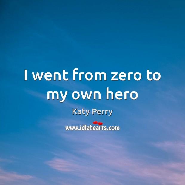 I went from zero to my own hero Image