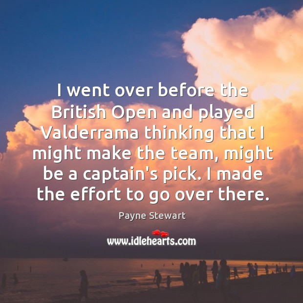 I went over before the British Open and played Valderrama thinking that Image