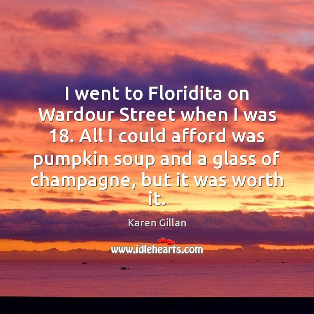 I went to Floridita on Wardour Street when I was 18. All I Image