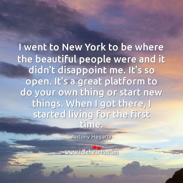 Image, I went to New York to be where the beautiful people were