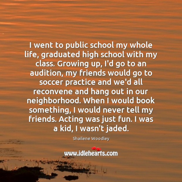 I went to public school my whole life, graduated high school with Soccer Quotes Image