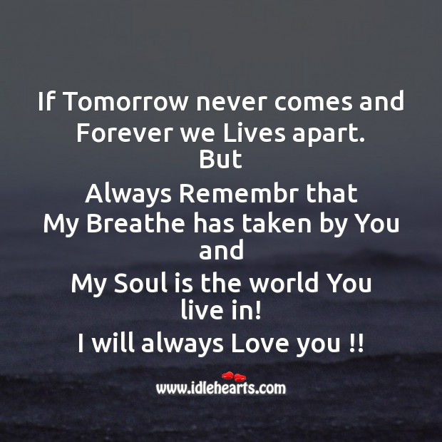 Image, I will always love you !!