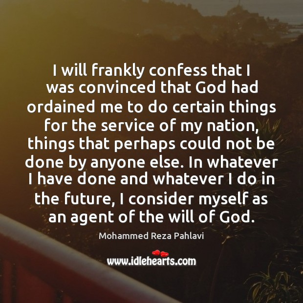 Image, I will frankly confess that I was convinced that God had ordained