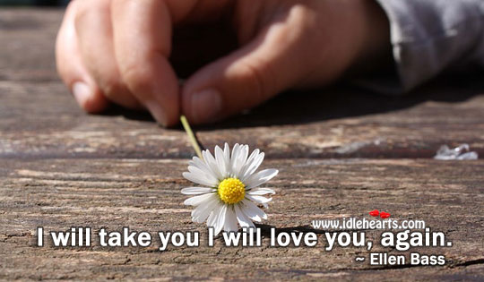 I will love you, forever and ever Water Quotes Image