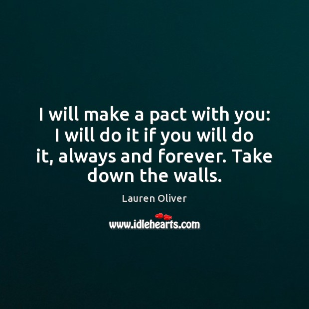 Image, I will make a pact with you: I will do it if