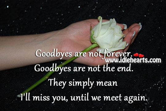 I'll Miss You, Until We Meet Again.